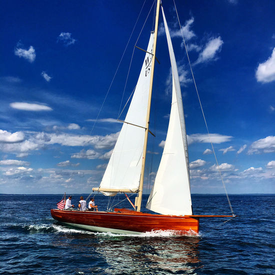 Sailing Beauty In Nature Blue Boat Cloud Cloud - Sky Day Horizon Over Water Journey Mast Mode Of Transport Nature Nautical Vessel Ocean Outdoors Rippled Sailboat Sailing Scenics Sea Sky Tranquil Scene Tranquility Transportation Water Waterfront