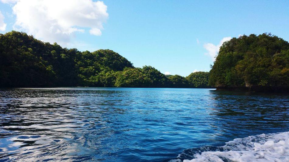 Rock Island Pacific Ocean Micronesia Palau Boat Trip EyeEm Traveling Blue Wave The Great Outdoors With Adobe The Great Outdoors - 2016 EyeEm Awards Miles Away Sommergefühle