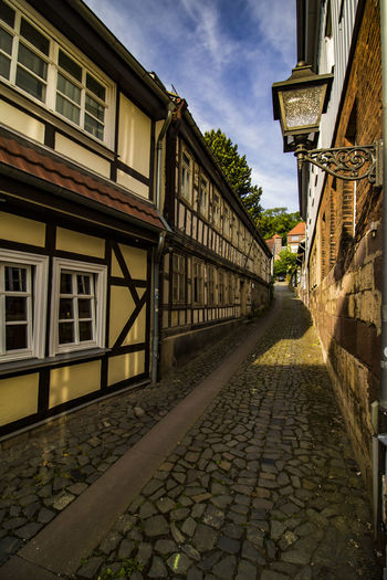 City Cityscape Cobblestone Streets Lantern Old Town Old-fashioned Romantic Architecture Bouldering Built Structure cityscapes Cobbled Streets Cobblestone Cobblestones Detail Half-timber House Half-timbered Half-timbered Houses Historic No People Old Buildings Street Streetphotography Timber Timbered House