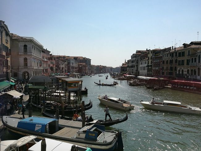 Nautical Vessel Architecture Building Exterior Outdoors Water Sky Day Clear Sky City Busy City Holiday Memories Exploring Always Wanted To See This Venice, Italy Grand Canal