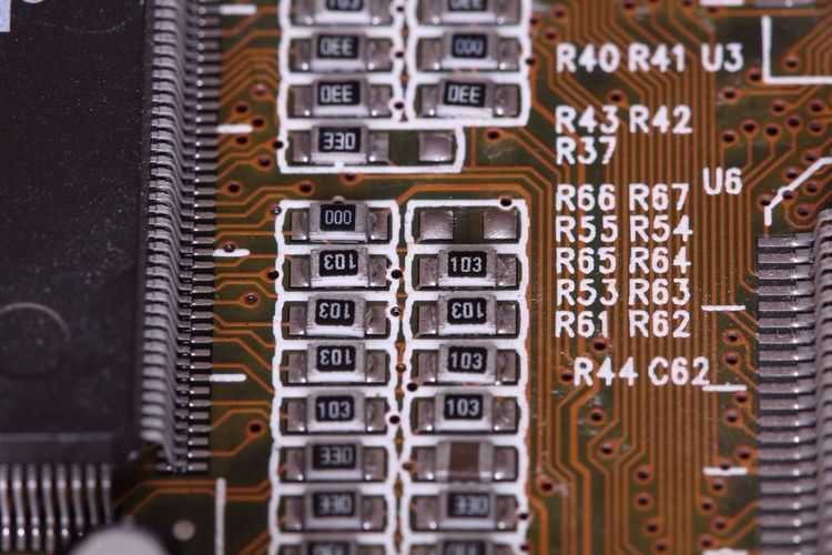 Full frame shot of electronic circuit