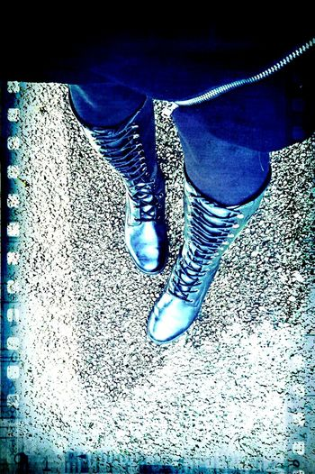 Are You Ready Boots? Legs Contrasting Colors Walking Around The City  one of these days, these boots are gonna walk all over YOU...! ⭐