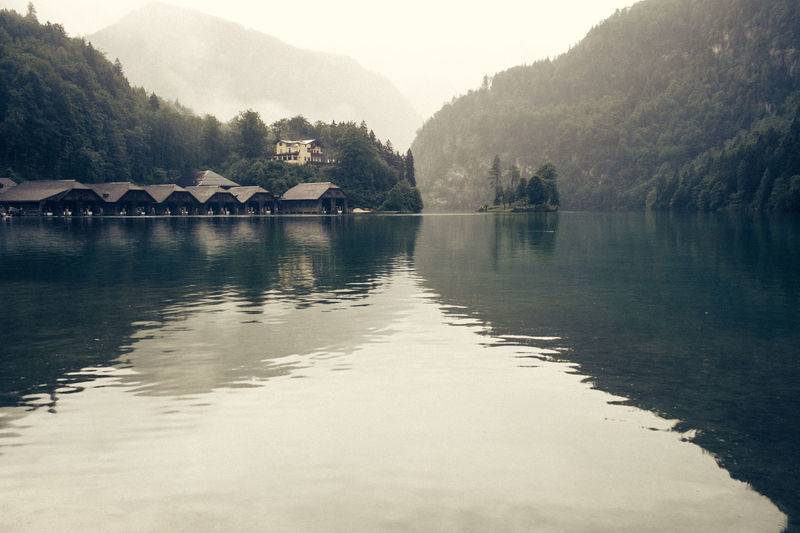 Königssee Schönau Am Königsee Architecture Beauty In Nature Berchtesgaden Building Exterior Built Structure Day Mountain Nature No People Outdoors River Scenics Sky Tranquil Scene Tranquility Tree Water