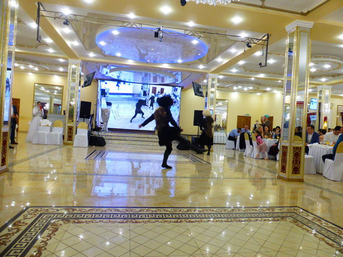 People walking in shopping mall