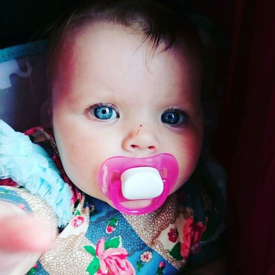 Most beautiful little lady in the world. Babygirl Hello World Gorgeous Girl Blue Eyes Intense Colors Laser Eyes So Cute Princess