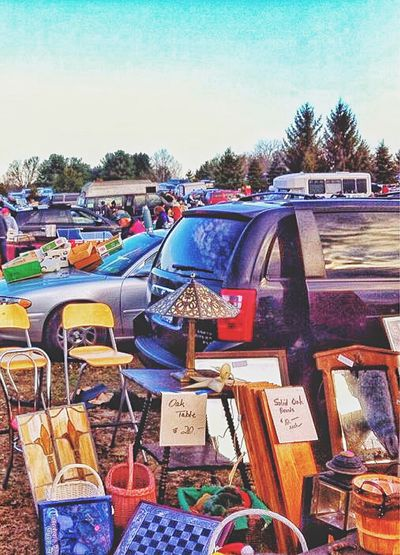 At the car boot sale... Large Group Of Objects Abundance Multi Colored Stack Variation Sky Outdoors Day Group Of Objects No People Messy Colorful Arrangement October New England  Connecticut Car Boot Sale