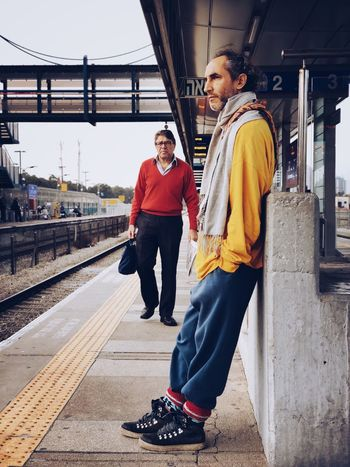 Mydtrainmoments Mytrainmoments מייאייפון10 IPhoneX ShotOnIphone Two People Casual Clothing Day Beard City Fashion Stories