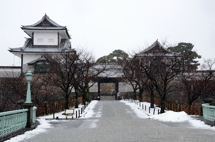 Architecture Bare Tree Building Exterior Built Structure Castle Gate Cold Temperature Day Japan Japan Architecture Japan Photography Kanazawa Kanazawa Castle Nature No People Outdoors Sky Snow Tree Winter