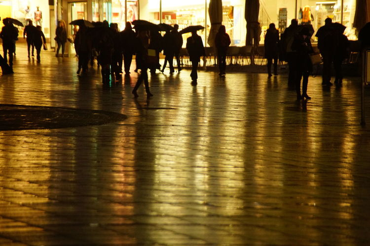 Good morning. Reflection Water Men Large Group Of People City Real People Women Outdoors Adult People Adults Only Low Section Sky Human Body Part Day EyeEm Masterclass Stuttgart City First Eyeem Photo EyeEm Eyeem0711 EyeEm Gallery City Rainyweather Architecture_collection Rainy Night