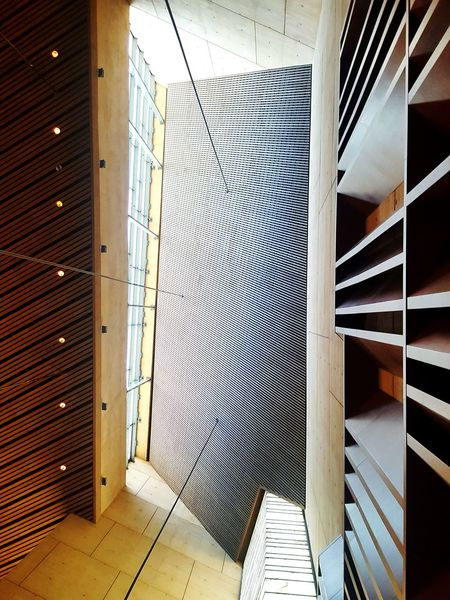 geometric beauty View From Below Lookingup Cathedral Ceiling Geometric Architecture Geometric Shape Architecture_collection Design Modern Modern Architecture Lines And Shapes Light Architecture Built Structure Architectural Detail Architectural Design