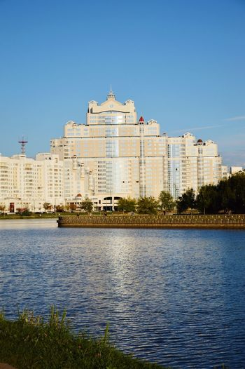 Minsk Minsk City River Water Old Town View