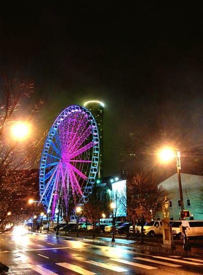 ATL. Night Night Lights City Lights Atlanta