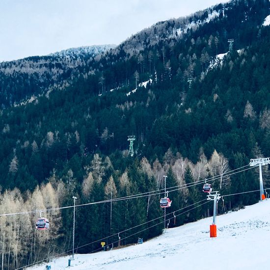 Mountain Nature Snow Transportation Day Scenics Tree