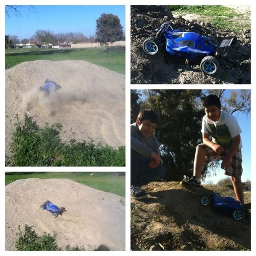 My two Brothers tearing Shit up with their Nitrorccar Picstitch  ?