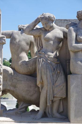 France Frankreich ♥ Art And Craft Craft Creativity Day Erotic_art Erotık Human Representation Male Likeness No People Outdoors Sculpture Sky Statue