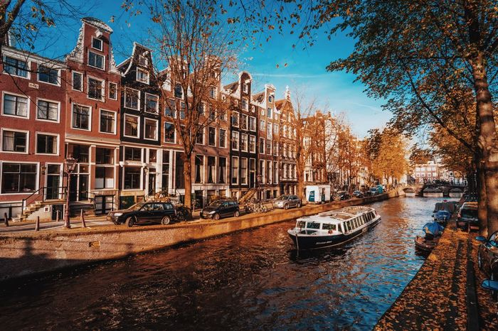 Autumn in Amsterdam Canal Amsterdam Boat Houses Nautical Vessel City Travel Destinations Water Transportation Architecture Travel Travel Photography Holland Netherlands Outdoors Cityscape Autumn Traveling EyeEm Best Shots EyeEm Photooftheday Day Mode Of Transport EyeEm Best Edits Eyeemphotography