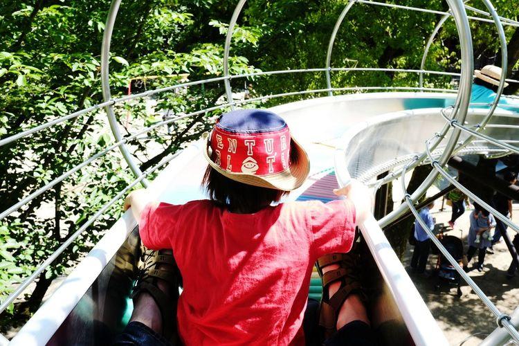 ローラーコースター初体験 Daughter Park Slider Summer Holiday