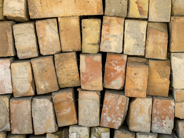 Stacked red bricks Red Wall Backgrounds Block Brick Pattern Stacked Stone