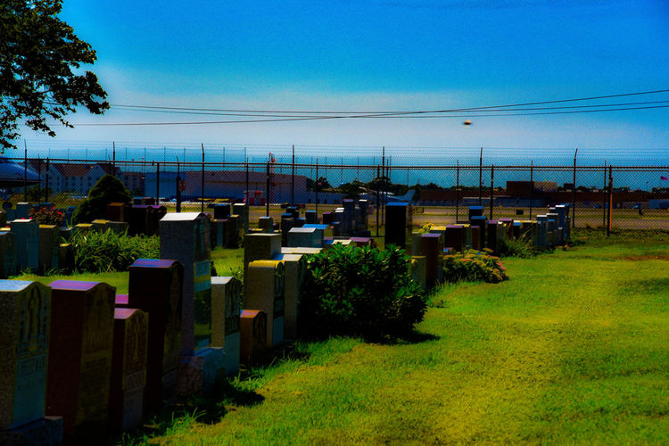 Airport Aliens Cemetery Flying Saucer Grave Headstones UFO Visitors