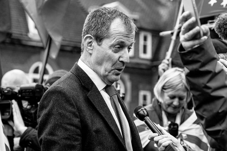 Alastair Campbell outside Houses Of Parliament Portrait Headshot Real People Adult Two People Lifestyles Mid Adult