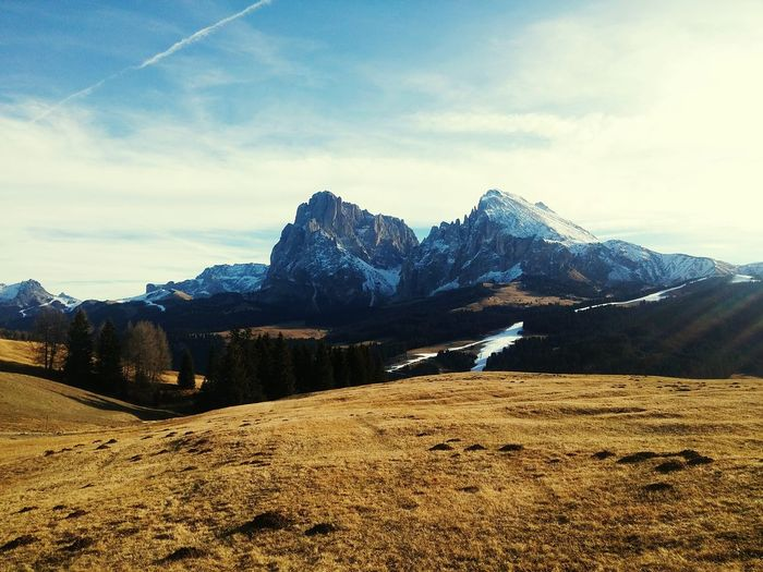Mountain Tree Leisure Mountain Range Landscape Outdoors Cloud - Sky Sky No People Day Beauty In Nature Scenics Natural Beauty Tranquility Vacation Italy Dolomites Nature Snow Mountain Peak Beauty ıtaly Holiday Italianlandscape