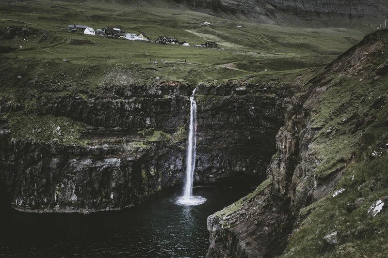 Gasadalur Beauty In Nature Faroe Faroe Islands Faroeislands Färöer Long Exposure Nature No People Non-urban Scene Scenics - Nature Tranquil Scene Travel Water Waterfall
