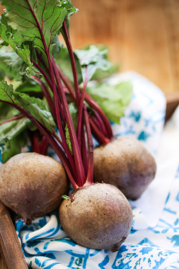 Beetrots Beetroots Beetroot Vegetable Food Selective Focus Red Leafy Greens Food And Drink Freshness Healthy Eating Close-up Still Life Indoors  No People Root Vegetable Common Beet Table Organic