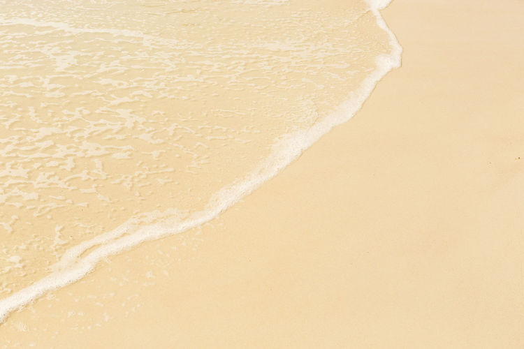 Close-up of sand on beach
