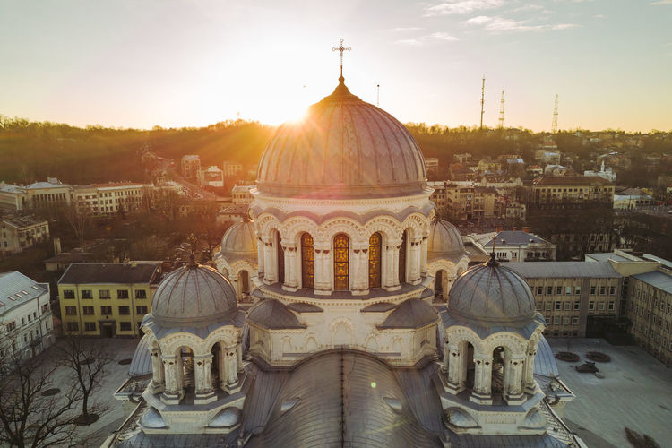 Sunrise Architecture Building Exterior Built Structure City City Day Dome Gold Gold Colored Morning No People Outdoors Place Of Worship Religion Sky Soboras Spirituality Sunrise Sunset Tourism Travel Travel Destinations