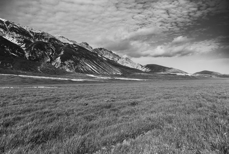 Part of Terraqua ivandimarcophotography.com Beauty In Nature Blackandwhite Campo Imperatore Cloud Cloud - Sky Countryside Day Field Grass Idyllic Landscape Mountain Mountain Range Nature No People Non Urban Scene Non-urban Scene Outdoors Remote Scenics Sky Tranquil Scene Tranquility Wide Angle