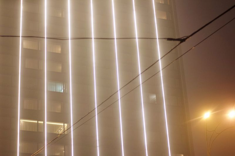 Foggy EyeEm Selects No People Illuminated Architecture Night Pattern Built Structure Lighting Equipment Wall - Building Feature Glowing Building Electric Lamp