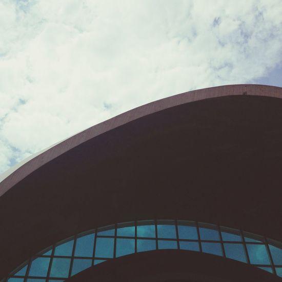 Church Architecture Minimalism Sky