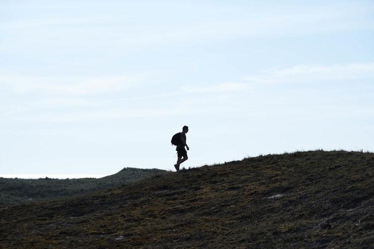 Full length of man walking on land