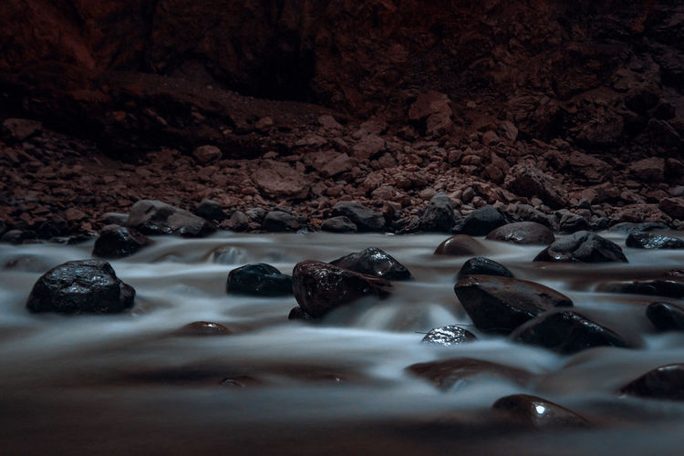 After some climbing by the river I found a nice spot for a long exposure. Nature Outdoors Adventure South America Latin America Explore Discover  Camping Backpacking Backpack Canyon River Surface Level Pebble Close-up Motion Stone - Object Rock Solid No People Selective Focus Water Night Abstract Long Exposure