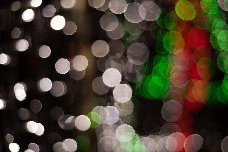 Full frame shot of defocused image of illuminated lights