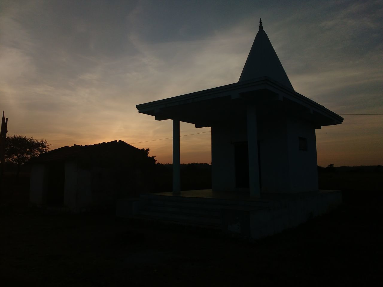 sunset, architecture, built structure, sky, silhouette, building exterior, cloud - sky, no people, outdoors, nature, day