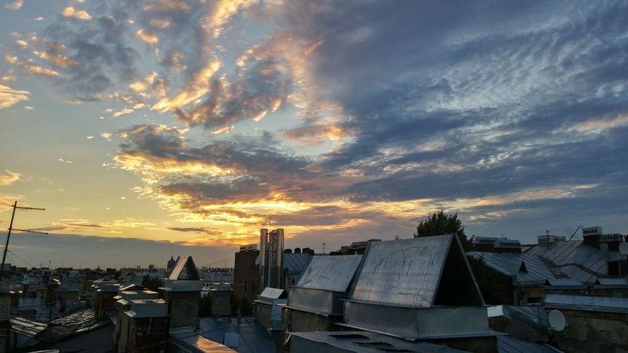 Saint-Petersburg Rooftop View  Sunset Skyporn летние деньки день5