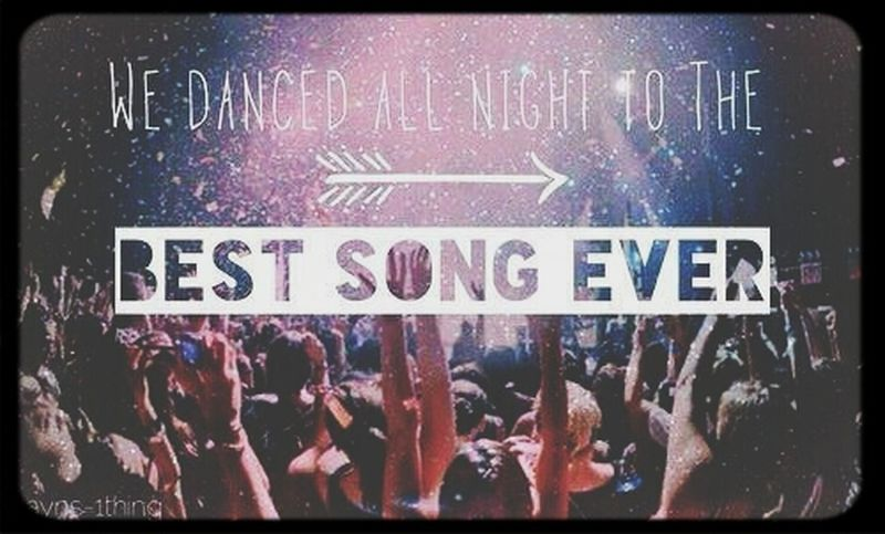 And we danced all night to the BEST SONG EVER .. Onedirection Bestsongever