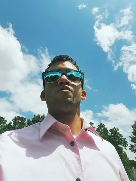 Looking ahead... Check This Out That's Me Selfportrait Selfie Sky Blue Sky Sunglasses Lookingup Closeup EyeEm Best Shots