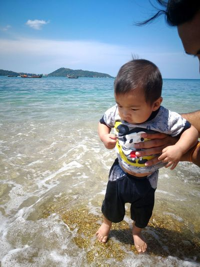 Infant EyeEm Selects Water Sea Full Length Beach Sand Seafood Baby Fish Sea Life Sky Horizon Over Water Ocean Wave Calm