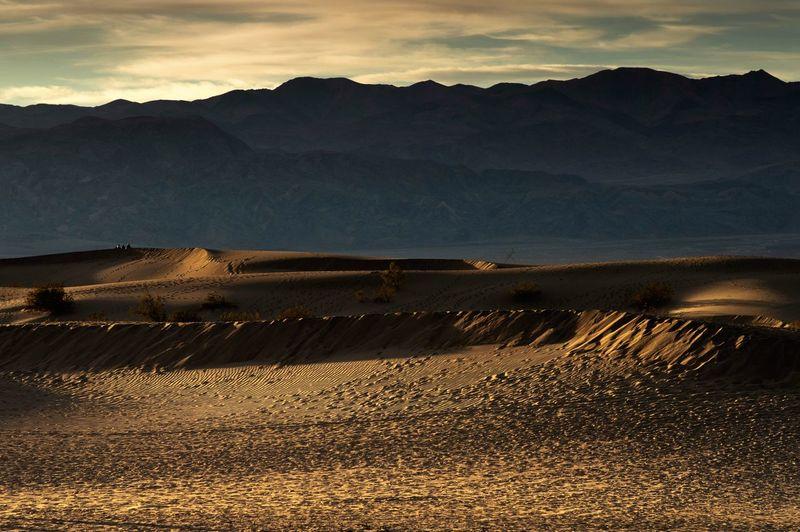 Sand dunes in Death Valley National Park California Death Valley Golden Light Golden Hour Photography Golden Hour Sand Dunes, Death Valley Sand Dunes Sand Sky Nature Environment Landscape Sunlight Outdoors Beauty In Nature Tranquility Sunset Desert Field Non-urban Scene