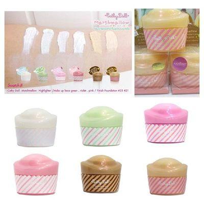 CATHY DOLL MARSHMALLOW FOUNDATION CAKE PERKEMASKAN MAKE UP ANDA HANYA DENGAN CALITAN DARI :::CATHY DOLL MARSHMALLOW FOUNDATION CAKE::: ( 20g ) - Highlighter (White) – Untuk membuat kan wajah lebih menyerlah - Foundation 21 - Foundation 23 - Make up Base – (Pink) untuk kulit wajah yang sekata - Make up Base – (Creamy Green) untuk menyembunyikan cela jerawat - Make up Base – (Light Purple) untuk kulit wajah menawan RM 34 EXCLUDE POSTAGE WA:0137471749 Sayajual Visitmyig visitig cathychoo cathydoll