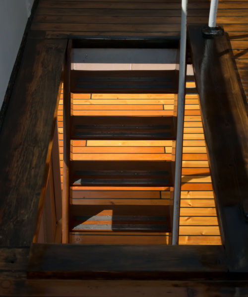 stairs on an old steam vessel Stairs Architecture Close-up Indoors  Low Angle View Nautical Vessel No People Ship Staircase Steam Ship Wood - Material