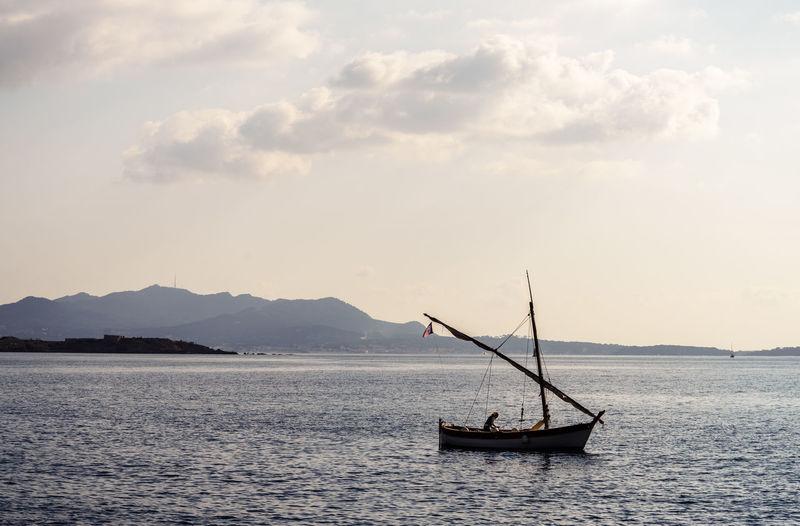Sailing boat on