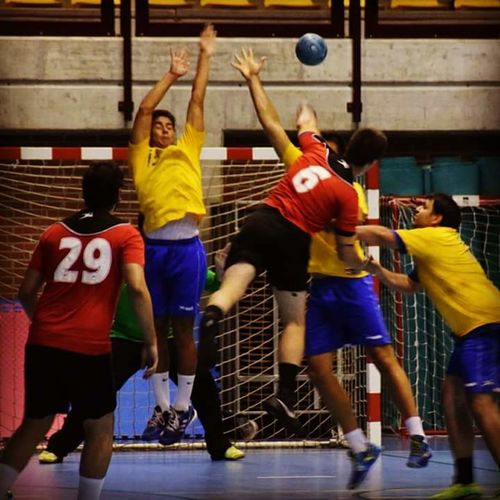 Handball Handball Is My Life Sport Competition Playing Sports Uniform Sports Team Sportsman Motion Basketball Player Real People Sports Clothing Teamwork Athlete Young Adult Coordination Day Adult Only Men Leisure Activity Competitive Sport People Adults Only Challenge Indoors  Arms Raised Basketball - Sport Men