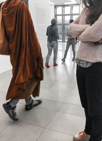 the encounter - ooommmm Adapted To The City Buddhism Buddhist Buddism Cloth Clothes Encounter Exhibition Fashion Fashion Photography Gallery Kilt Looking Monk  People Relaxed Religion Religion And Beliefs Religious  Spiritual Spirituality Streetphotography Walking Around The Street Photographer - 2017 EyeEm Awards EyeEm Selects Second Acts Fashion Stories Love Yourself