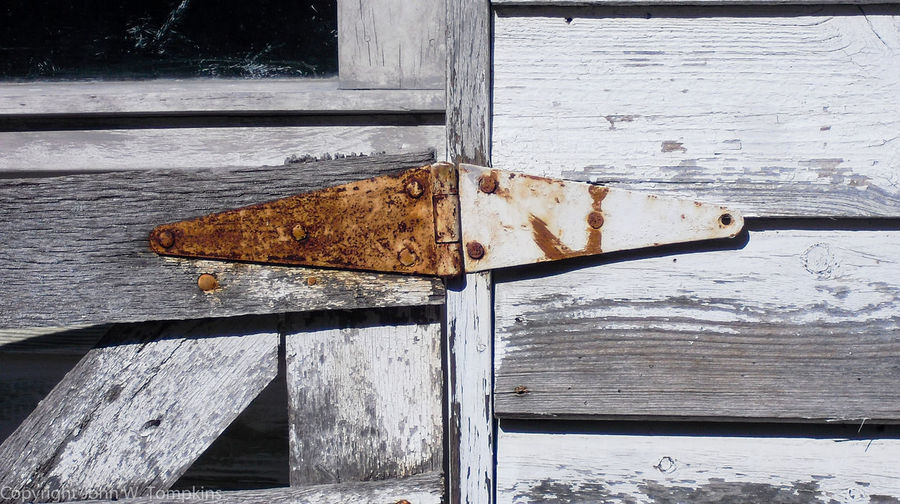 Rusty hinge Backgrounds Close-up Day Detail Deterioration Full Frame Hinge No People Old Outdoors Plank Run-down Rusty Weathered White Color Whitewashed Wood Wood - Material Wooden