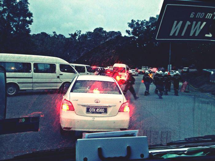 Traffic jam as always! Crazy!