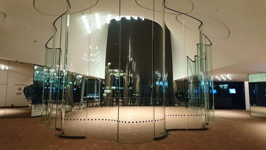 Elbphilharmonie Hamburg Night City Light Architecture Glass