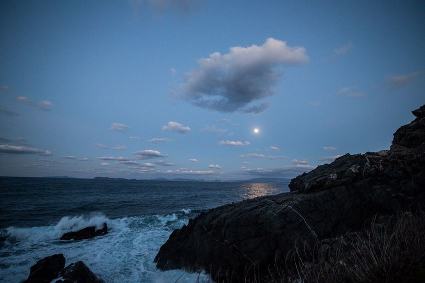 Seascape Moonlightscape Cold Days January 2017 Silent Landscape Fukuoka-shi Fukuoka City  Fukuoka Fukuoka,Japan